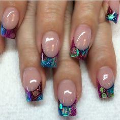 Instagram photo of acrylic nails by christiehawaii