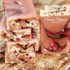Japanese Cherry Blossom Vegan Artisan Soap made with all organic oils and butters and coconut milk.