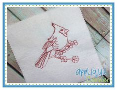 Cardinal Sketch Embroidery Design
