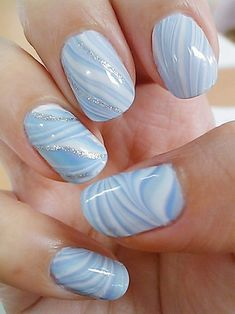 52 Water Marble Nail Art DesignsPick Your Favorite blue nailart nails fashion be. Marble Nail Designs, Fall Nail Art Designs, Colorful Nail Designs, Marble Tumblr, Water Marble Nail Art, Water Nails, Nail Art Techniques, Nailart, Nail Polish