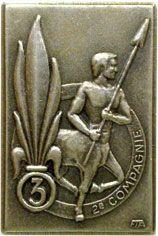 L'insigne du 2e compagnie
