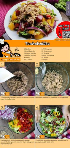 Das Thunfischsalat Rezep… Our tuna salad recipe for all fish lovers. You can easily find the tuna salad recipe video using the QR code :] salad Salad Recipes Video, Salad Recipes For Dinner, Healthy Salad Recipes, Lunch Recipes, Healthy Sandwiches, Deli Sandwiches, Tuna Salad, Us Foods, Cooker Recipes