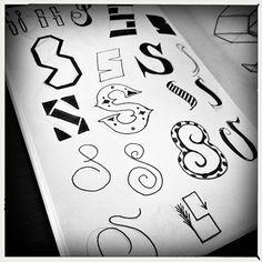 S kleine letters handlettering