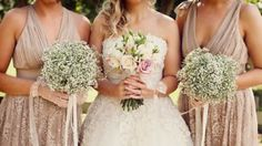 Do you like the baby breath for bridesmaids? M x