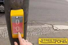 Pedestrians Play 'Pong' With Each Other As They Wait To Cross The Road. Man, I love this idea! It's cause i love ping pong