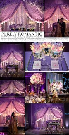 Welcome to Design House: New York's Premiere Decorators Whether you are… Wedding Stage, Our Wedding, Destination Wedding, Wedding Planning, Dream Wedding, Pink And White Weddings, Purple Wedding, Wedding Colors, Wedding Flowers