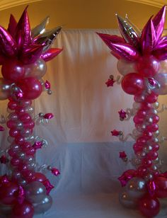 Column Sweet 16 Balloon Decor ~ Tulsa, OK