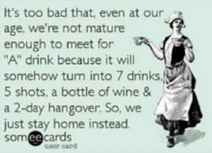 So true...it's never just one!!! And Hell no we won't stay home!!