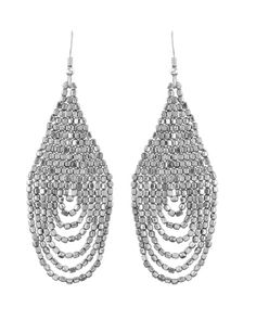The Lhasa Earrings Silver by JewelMint.com, $59.98