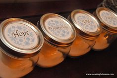 "Day #335 - Mason Jar Advent ""Wreath"" with Printable - Meaningfulmama.com"