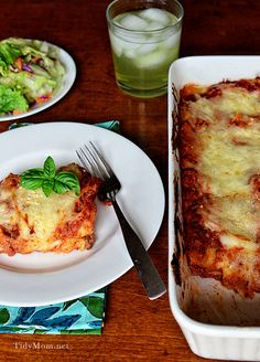 Easy and Delicious Beef  Ricotta Lasanga recipe the whole family will love! Recipe at http://TidyMom.net
