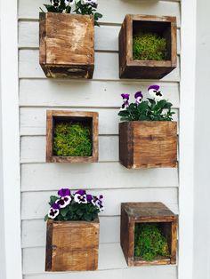 DIY flower wall garden + planter