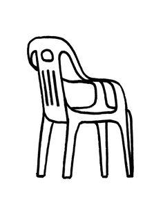 Chair illustrated by Nico González Ligne Claire, Line Illustration, Poster S, Art Graphique, Art Inspo, Graphic Art, Graphic Design, Design Art, Cool Art