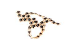 Lito's DNA ring with black rose-cut diamonds set in 18-karat rose gold