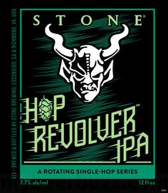 NEW: Stone Hop Revolver IPA (Rotating Single-Hop Series Hop # 1: Loral) #beer #craftbeer #party #beerporn #instabeer #beerstagram #beergeek #beergasm #drinklocal #beertography