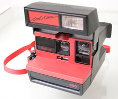 Red Polaroid Cool Cam 600 Instant Camera by Spiderbot on Etsy, $60.00