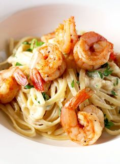 This Cajun Shrimp Alfredo Pasta is creamy, rich and flavorful with a bit of a