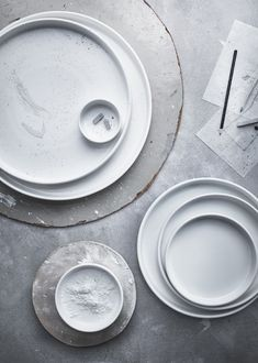 Simple white ceramics from IKEA VIKTIGT collection