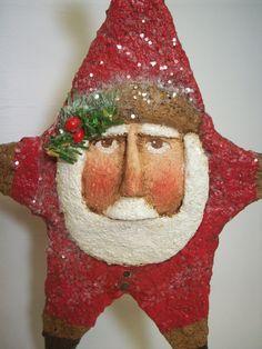 Hey, I found this really awesome Etsy listing at https://www.etsy.com/listing/213844749/primitive-paper-mache-folk-art-santa