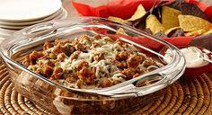 Layered Black Bean and Rice Jalapeño Dip