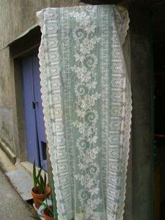 vintage french art deco lace panel!!