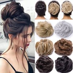 Details about Real Natural Curly Messy Bun Hair Piece Scrunchie Hair Extensions as Human DNHOC Real Natural Curly Messy Bun Hair Piece Scrunchie Hair Extensions as Human DNHOC Box Braids Hairstyles, Cool Hairstyles, Fashion Hairstyles, Braided Chignon, Chignon Hair, Ponytail Bun, Bun Hair Piece, Hair Pieces, Curly Hair Styles