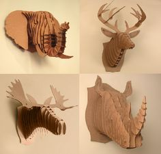 Image of Cardboard Safari-Animal Trophies SMALL/MEDIUM/LARGE