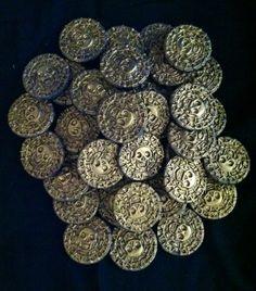 Cupcake Topper Pirate Coin Gum Paste Edible