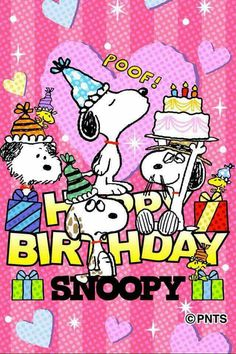 Little Twin Stars Happy Birthday Snoopy Images, Snoopy Birthday, Snoopy Party, Cute Happy Birthday, Happy Birthday Wishes, Snoopy Family, Best Birthday Quotes, Snoopy Wallpaper, Snoopy Pictures