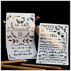Amazon.com: Bullet Journal Stencil Set, 20 Stencils for Journaling, Best for Scrapbooking, Card Making, Bible Journaling, DIY, Kids Crafts and More, Makes a Great Gift, by Fairytale Flair: Arts, Crafts & Sewing