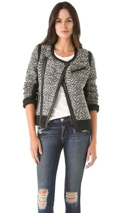 Rag & Bone  Smantha Knit Biker Jacket - take 20 % off with code WEAREFAMILY