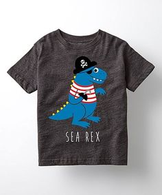 Look what I found on #zulily! Heather Charcoal 'Sea Rex' Tee - Toddler & Kids #zulilyfinds