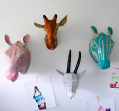 DIY Paper Mache for the adventurous.  Dwell Studio purchase for the rest of us.  #DIY #papermache #dwellstudio