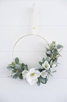 Modern spring garden bloomes & branches wreathbridal Source by Wreath Hanger, Diy Wreath, Tulle Wreath, Monogram Wreath, Wreaths For Front Door, Door Wreaths, Yarn Wreaths, Ribbon Wreaths, Floral Wreaths