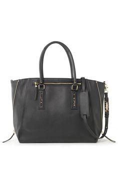 I want this bag. Right here. IN my closet. Right NOW. #black #tote #cheetah PUH-LEASEE!