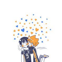 Kageyama X Hinata, Haikyuu Karasuno, Haikyuu Ships, Haikyuu Fanart, Haikyuu Anime, Kagehina Cute, Manga Anime, Haikyuu Wallpaper, Anime Stickers