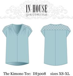 Kimono Tee PDF downloadable sewing pattern by nora