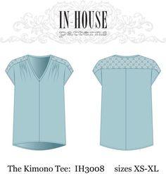 Kimono Tee PDF downloadable sewing pattern by nora