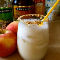 Carmel Apple Pie - Just like a slice of apple pie this cocktail combines sour apple pucker, Kailua, and butterscotch schnapps for a delightful step back into the autumn season.