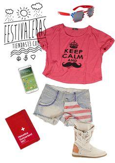 Trendy Girl: - Top: http://www.tiendas13.com/camisetas-tops/1219-top-camiseta-manga-corta-keep-kalm-moustache.html - Short vaquero: http://www.tiendas13.com/pantalones-shorts/1163-minishorts-vaqueros-blanqueados-con-estampado-bandera-americana.html
