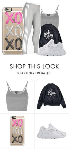 """""""7/6/16"""" by lookatimani ❤ liked on Polyvore featuring Topshop, Casetify, NIKE and adidas"""