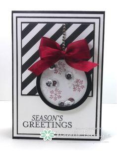 Christmas card. Shaker card
