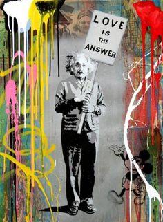 Mr. Brainwash  Einstein Técnica mixta sobre papel 76x56cm Pieza única