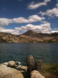John relaxing at Duck Lake