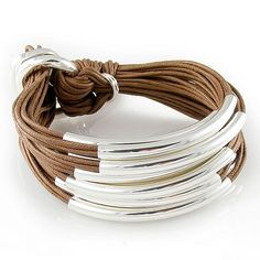 Multi Tube Bracelet - Silver Coffee | Gillian Julius | Jewelry $275