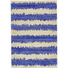 Bungalow Rose Randeep Blue/Beige Area Rug Rug Size: 6' x 9'