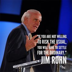 """If you are not willing to risk the usual you will have to settle for the ordinary. Jim Rohn, Success Quotes, The Ordinary, Quotes To Live By, Attitude, Instagram Posts, Movie Posters, Quote Life, Film Poster"