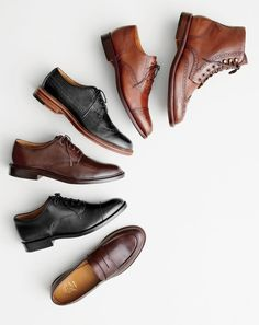J.Crew men's Ludlow penny loafers, Ludlow balmoral shoes, Ludlow derbys, Ludlow wing tips, Ludlow semi-brogue oxfords and Ludlow wing tip boots.