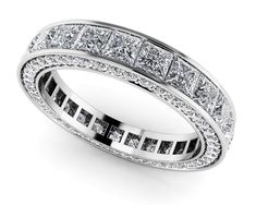 Breathtaking Princess and Round Eternity Ring