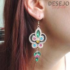 maxi brinco jade - bijoux